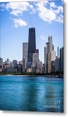 Chicago Photo Of Skyline And Hancock Building Metal Print