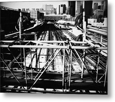 Chicago Railroad Yard Metal Print by Kyle Hanson