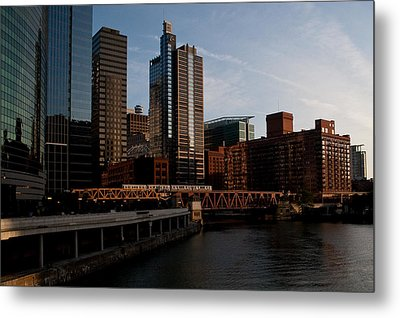 Metal Print featuring the photograph Chicago River And Downtown by Jane Melgaard