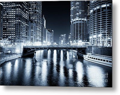 Chicago River At State Street Bridge Metal Print