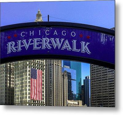 Chicago Riverwalk Metal Print