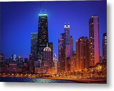 Chicago Shoreline Skyscrapers Metal Print
