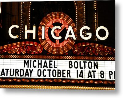 Chicago Sign - Chicago Theater Metal Print by Dmitriy Margolin
