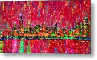 Chicago Skyline 203 - Pa Metal Print