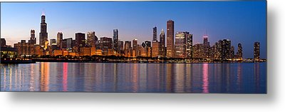 Chicago Skyline Evening Metal Print by Donald Schwartz