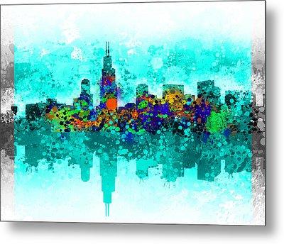 Chicago Skyline  Metal Print by Bekim Art