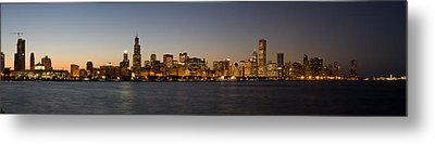 Chicago Skyline Panorama Metal Print by Steve Gadomski