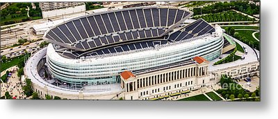 Chicago Soldier Field Aerial Photo Metal Print