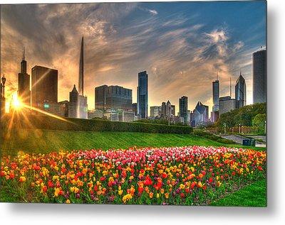 Chicago Spring Metal Print by Jeff Lewis