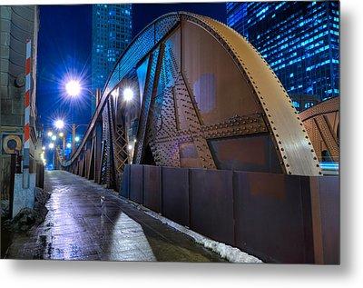 Chicago Steel Bridge Metal Print by Steve Gadomski
