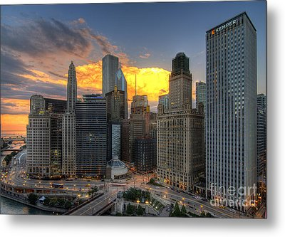 Chicago Storm Metal Print by Jeff Lewis