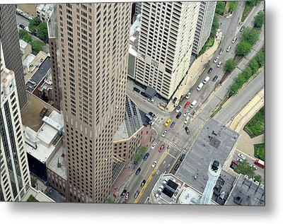 Chicago Streets Metal Print