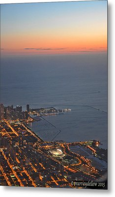 Chicago Sunrise Metal Print by Murray Dellow