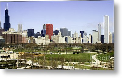 Chicago- The Windy City Metal Print by Ricky L Jones