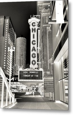 Chicago Theater - 2 Metal Print by Ely Arsha