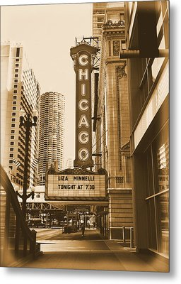 Chicago Theater - 3 Metal Print by Ely Arsha