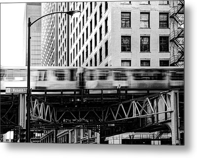 Chicago Transit Metal Print by Anthony Citro