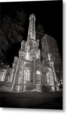 Chicago Water Tower Metal Print by Adam Romanowicz