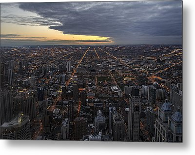 Metal Print featuring the photograph Chicago Westward by Steven Sparks