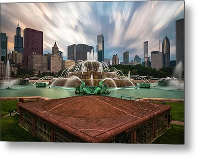 Chicago's Buckingham Fountain Metal Print