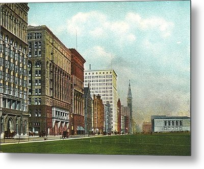 Chicago's Michigan Avenue Looking North From Congress Metal Print