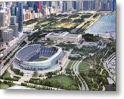 Chicago's Soldier Field Metal Print