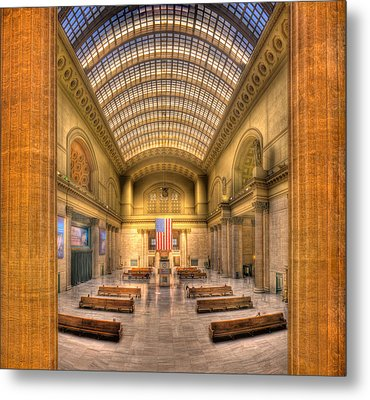 Chicagos Union Station Metal Print by Steve Gadomski
