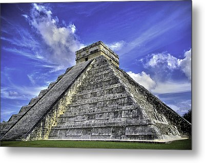 Metal Print featuring the photograph Chichen Itza, El Castillo Pyramid by Jason Moynihan