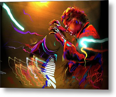 Chick Corea Metal Print by DC Langer