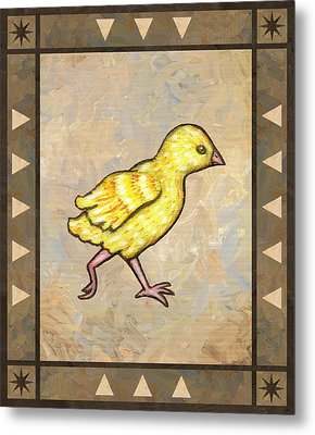 Chick Four Metal Print by Linda Mears