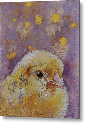 Chick Metal Print by Michael Creese