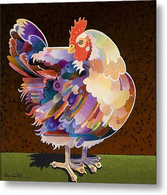 Chicken From Jamestown Metal Print