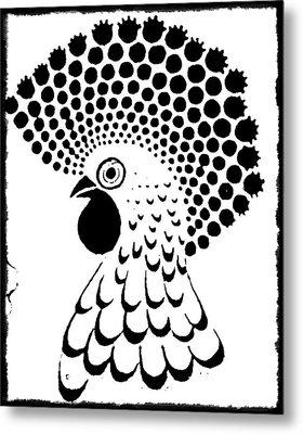 Chicken Tattoo  Metal Print by Paulo Zerbato