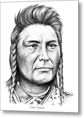 Chief Joseph Metal Print by Greg Joens