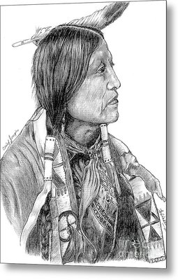Chief Joseph Of Nes Perce Metal Print