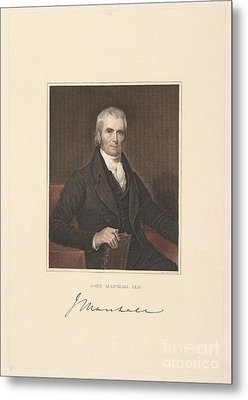 Chief Justice John Marshall Metal Print by Asher Brown Durand
