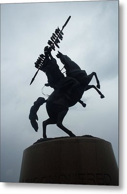 Chief Osceola Statue Metal Print