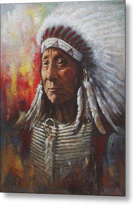 Chief Red Cloud Metal Print