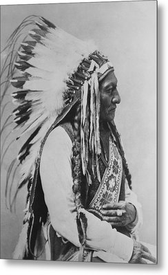Chief Sitting Bull Metal Print by War Is Hell Store