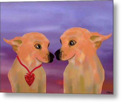 Chihuahua Sunset Metal Print by Sher Magins
