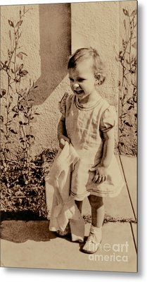 Metal Print featuring the photograph Child Of 1940s by Linda Phelps