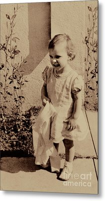 Metal Print featuring the photograph Child Of  The 1940s by Linda Phelps