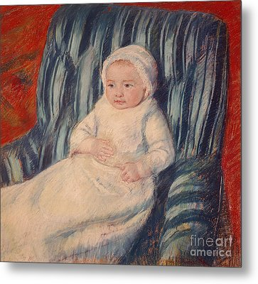 Child On A Sofa Metal Print