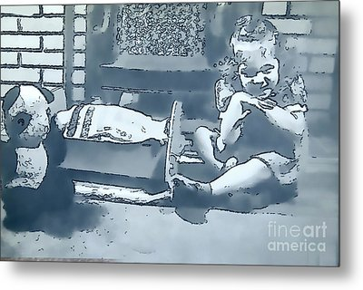 Metal Print featuring the photograph Childhood Memories by Linda Phelps