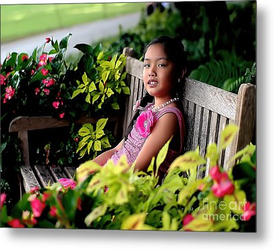 Metal Print featuring the photograph Children by Diana Mary Sharpton