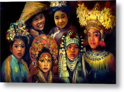 Children Of Asia Metal Print by Jean Hildebrant