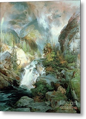 Children Of The Mountain Metal Print by Thomas Moran