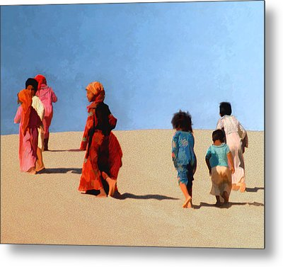 Children Of The Sinai Metal Print by Kurt Van Wagner