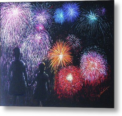 Children On The 4th Of July Metal Print by Diane Larcheveque