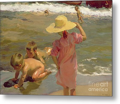 Children On The Seashore Metal Print